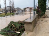 Serveis i afectacions a Cassà de la Selva a causa del temporal de pluja