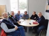 Reunió de treball entre l'Ajuntament de Cassà de la Selva i personal de protecció civil