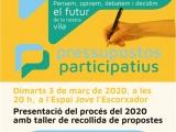 Tret de sortida dels pressupostos participatius 2020 de Cassà de la Selva
